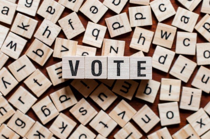 Abstimmungswortkonzept lizenzfreie stockfotografie