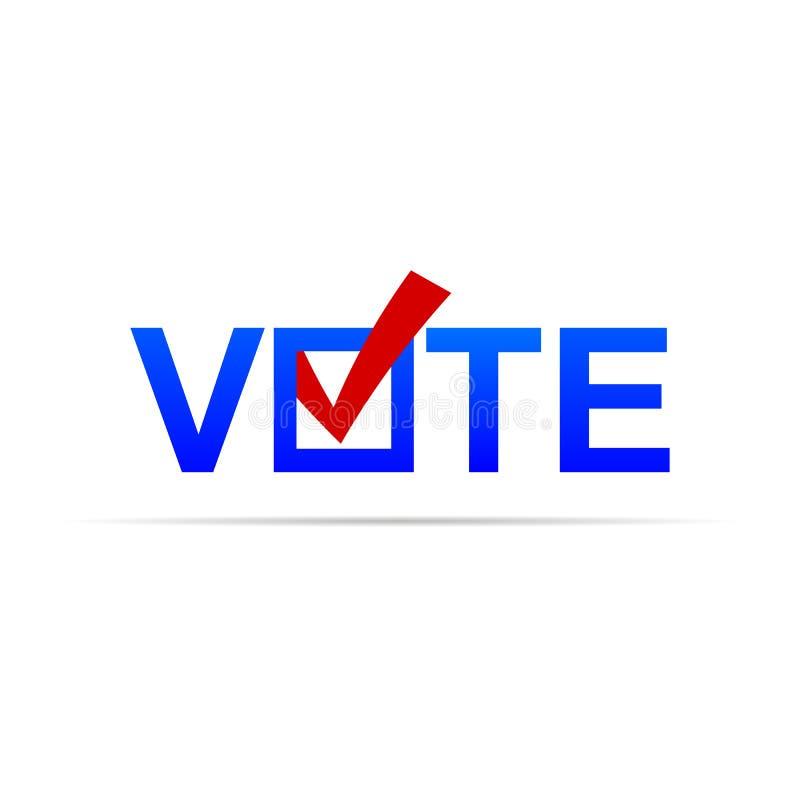 Abstimmungszeichen mit Häkchen stock abbildung