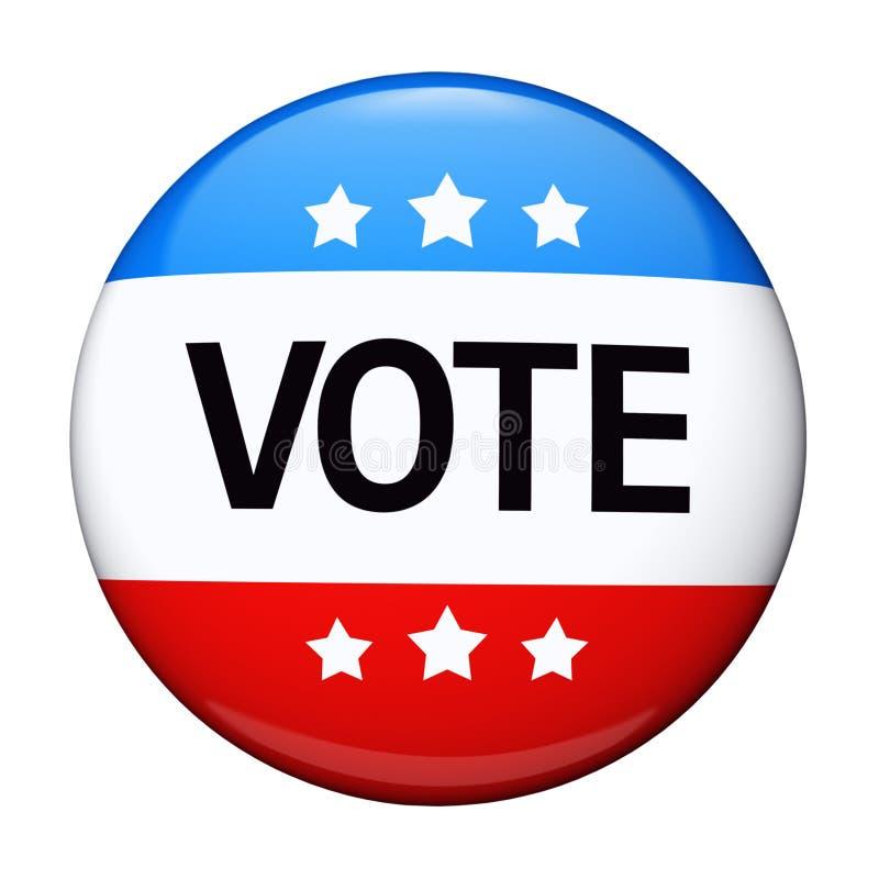 Abstimmungwahl-Kampagnenabzeichen lizenzfreie abbildung