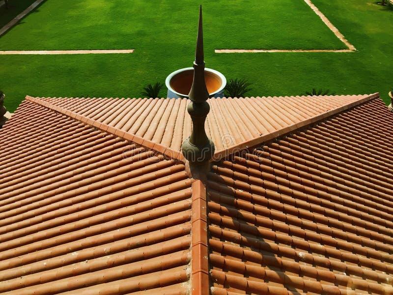 Abstração artística do telhado da construção fotografia de stock