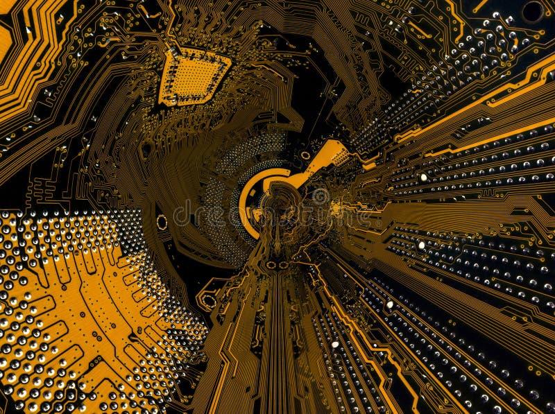 Abstração baseada na imagem do cartão-matriz ilustração royalty free