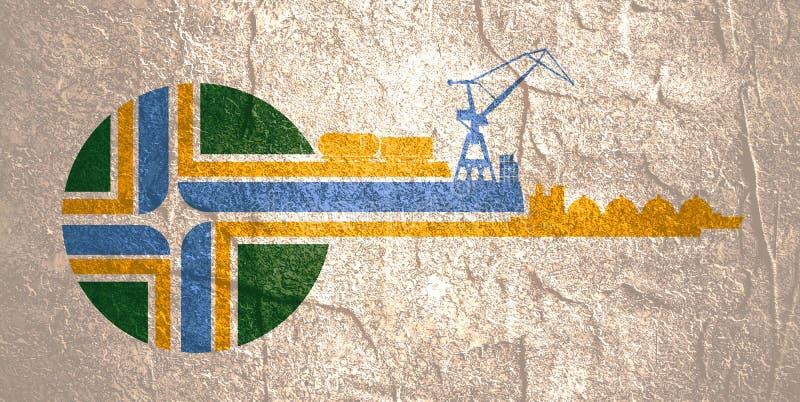 Abstração comercial do porto ilustração do vetor
