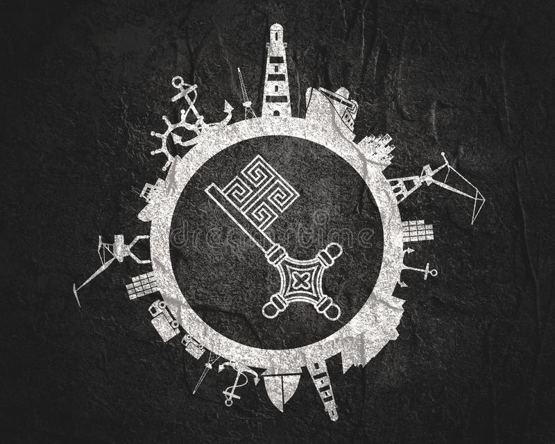 Abstração comercial do porto ilustração royalty free