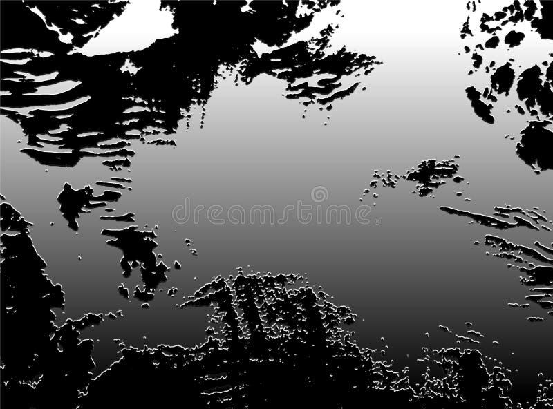 Abstração da imagem de um fundo prateado ilustração do vetor