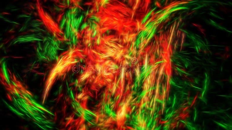 Abstração de brilho bonita do fractal imagens de stock royalty free