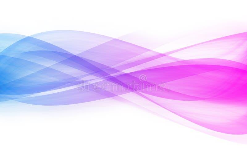 Abstração de curvas de cor azul-violeta ilustração stock