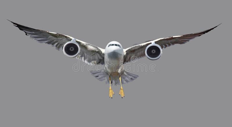 Abstração em pássaros e em aviões fotos de stock