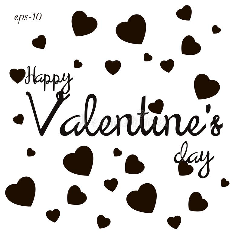 Abstração feliz do amor do dia de Valentim ilustração stock