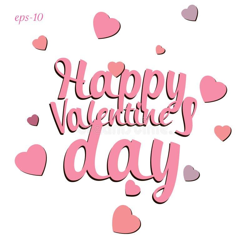 Abstração feliz do amor do dia de Valentim ilustração do vetor