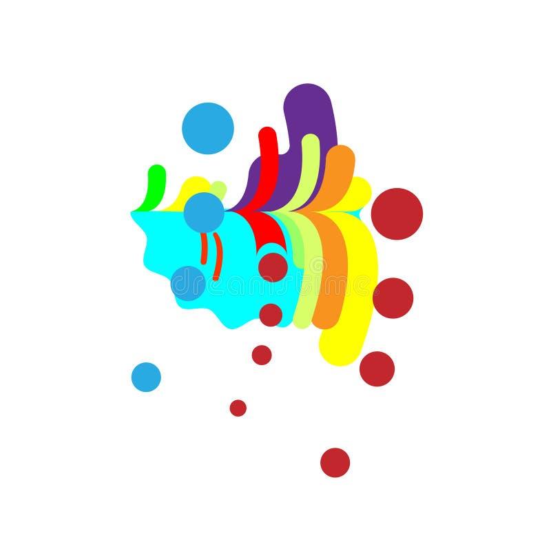 Abstração moderna, cachoeira da composição, tropical feito de várias formas arredondadas na cor Ilustração do vetor ilustração royalty free