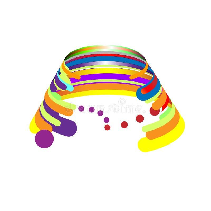 Abstração moderna, composição feita de várias formas arredondadas na cor Crescente da ilustração do vetor ilustração do vetor