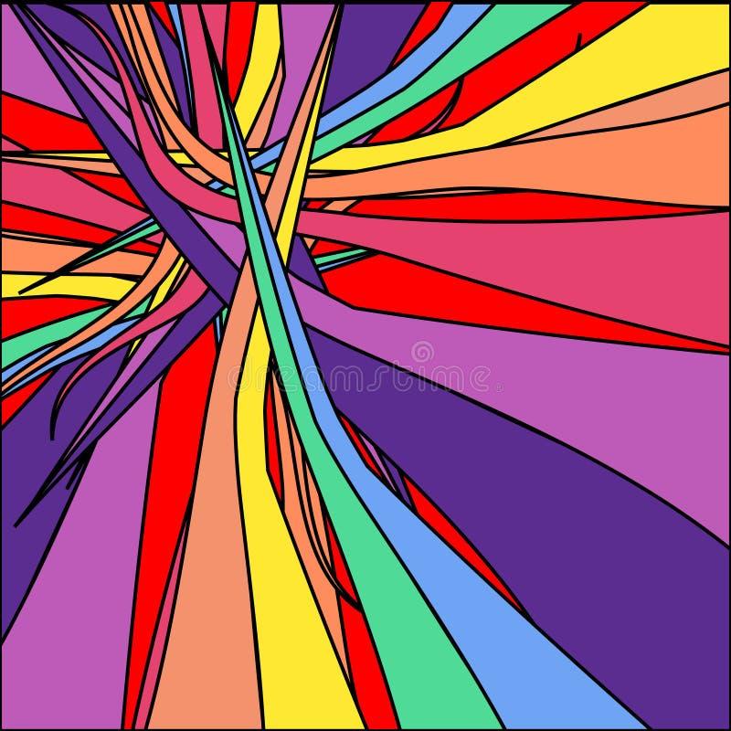 Abstração moderna dos retalhos coloridos ilustração stock