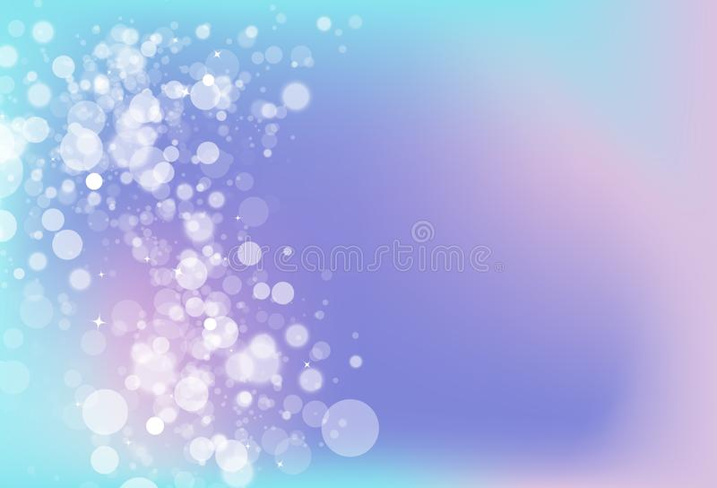 Abstra mágico del concepto del brillo de la chispa de la estrella de Bokeh del tono frío borroso libre illustration