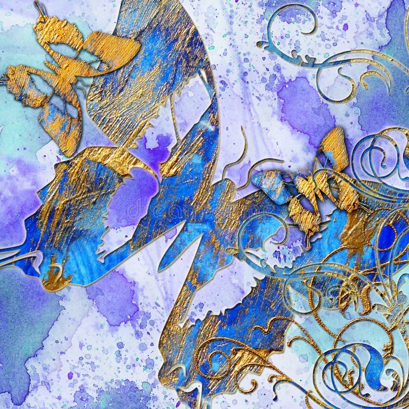Abstracção azul ilustração stock