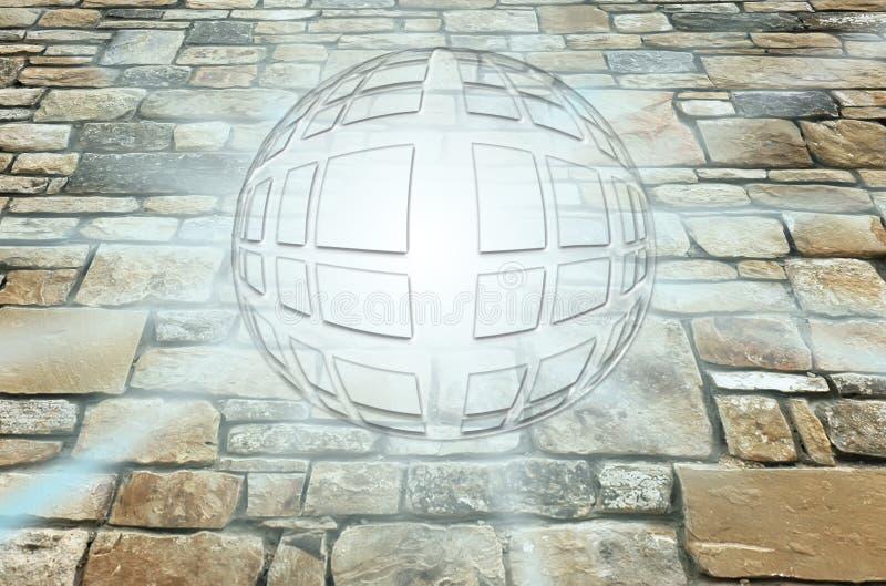 Abstracção como uma esfera brilhante ilustração do vetor