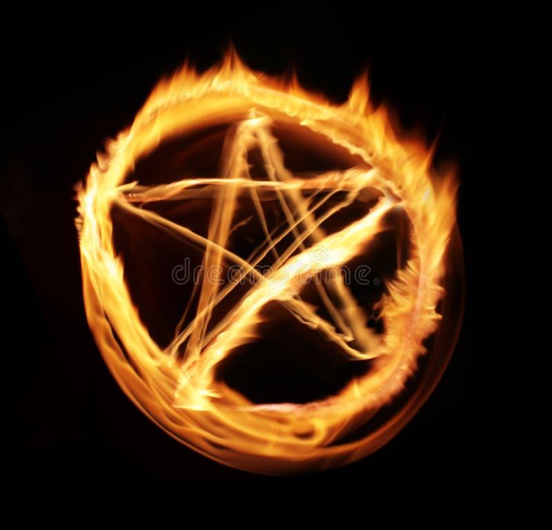 Abstracção da luz da flama da estrela ilustração do vetor