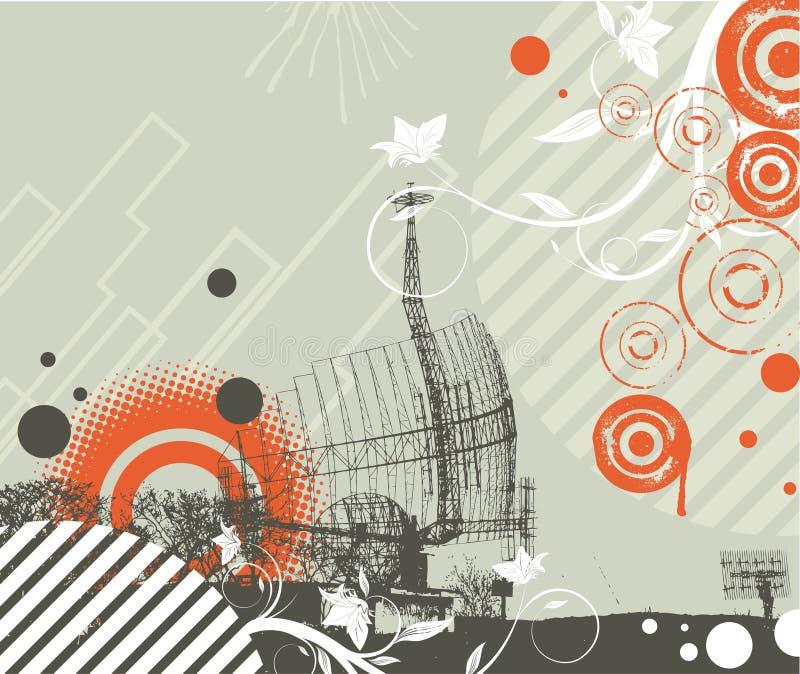 Abstracção de Techno ilustração do vetor