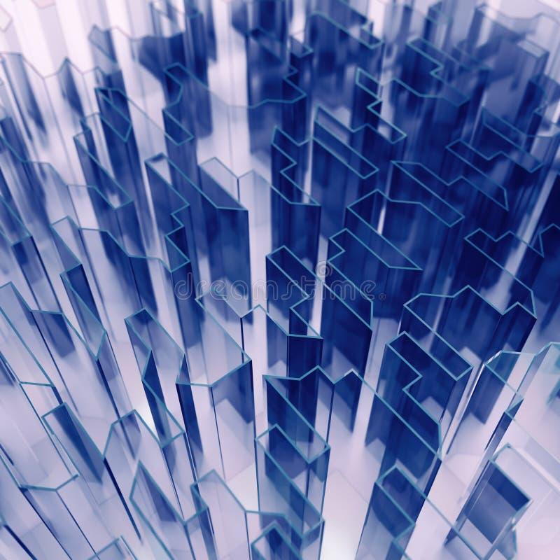 Abstracção de vidro azul ilustração do vetor