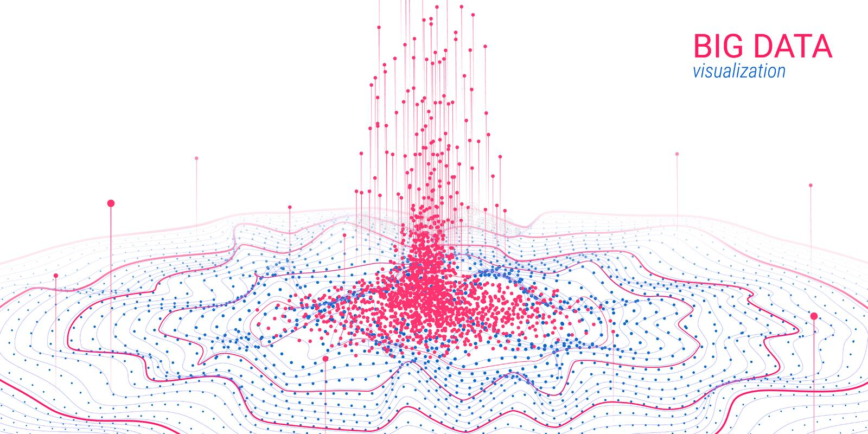 Abstracção futurista Visualização grande dos dados ilustração do vetor