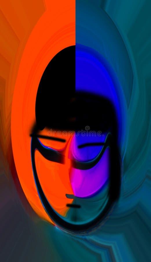 Abstracção interior gráfico Pintura Sumário Arte retrato Projeto ilustração stock