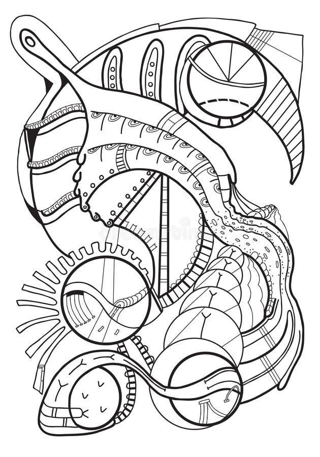 Abstracção Linha arte Imagens técnicas ilustração royalty free