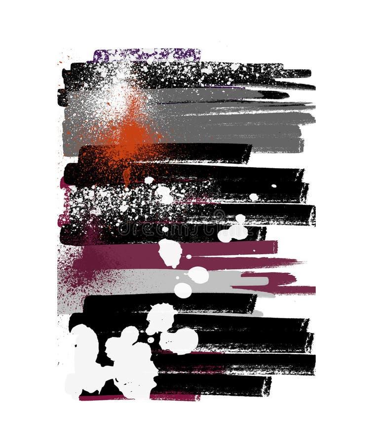 Abstracção pintada ilustração stock