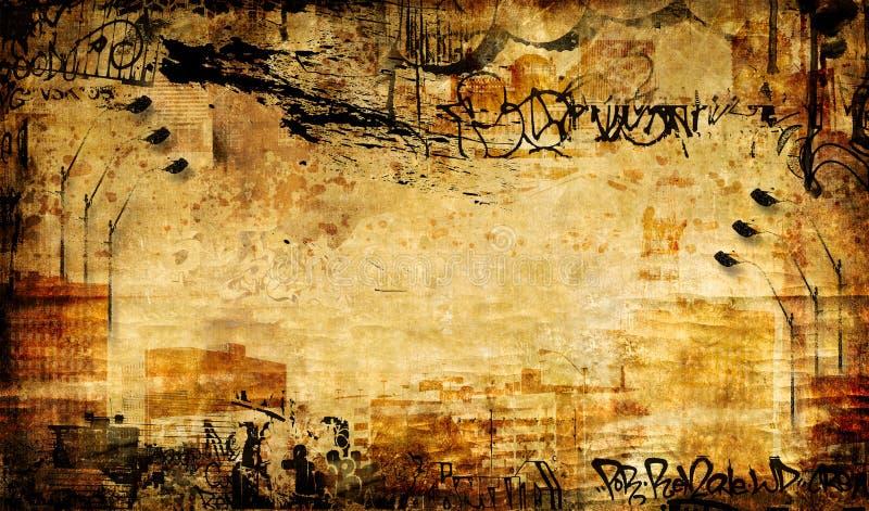 Abstracção suja ilustração do vetor