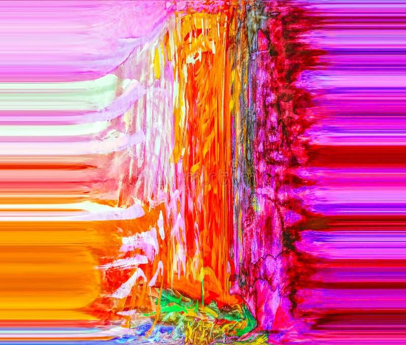 Abstracção Sumário Pintura retrato ilustração do vetor