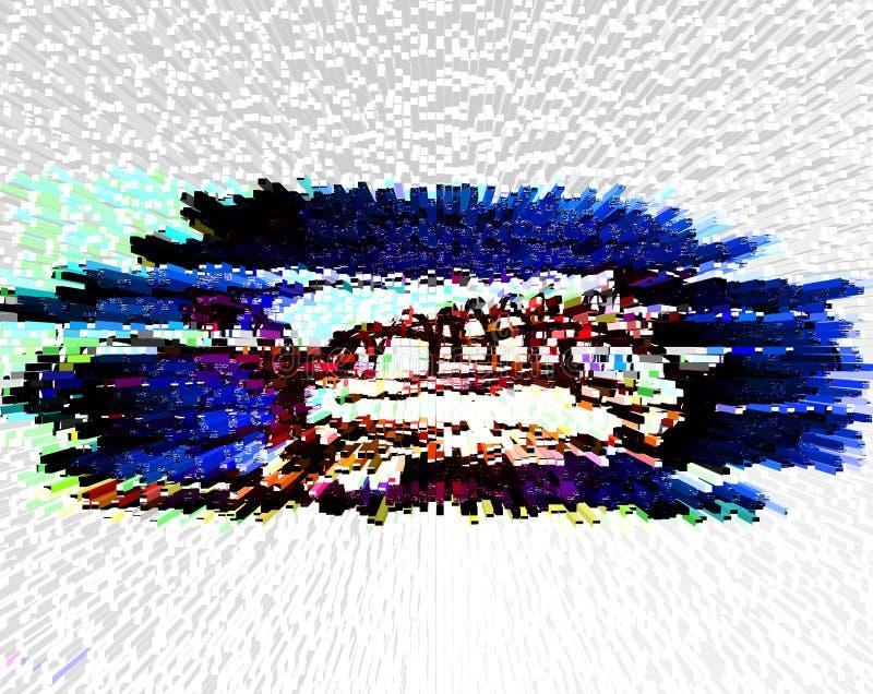 Abstracção Sumário Pintura retrato Textura ilustração do vetor