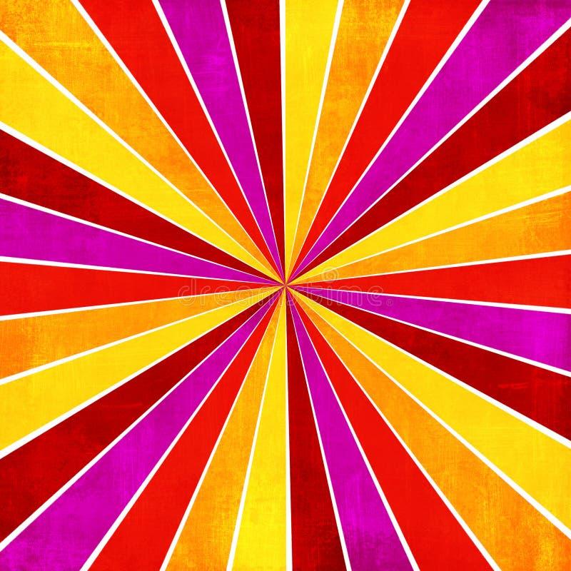 Abstrac amarillo, rosado, anaranjado y rojo colorido del estilo del resplandor solar del rayo foto de archivo libre de regalías