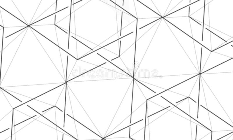 Abstrac??o Formas e poliedros geométricos hex?gonos Projeto v?rio ilustração do vetor