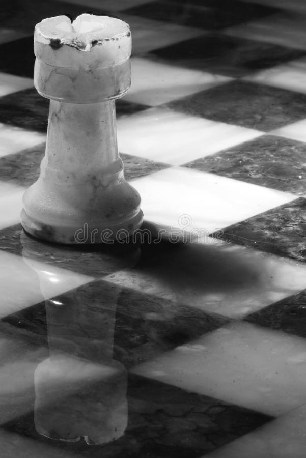 Abstrac tower in chess board. An abstrac tower in a chess board royalty free stock photography