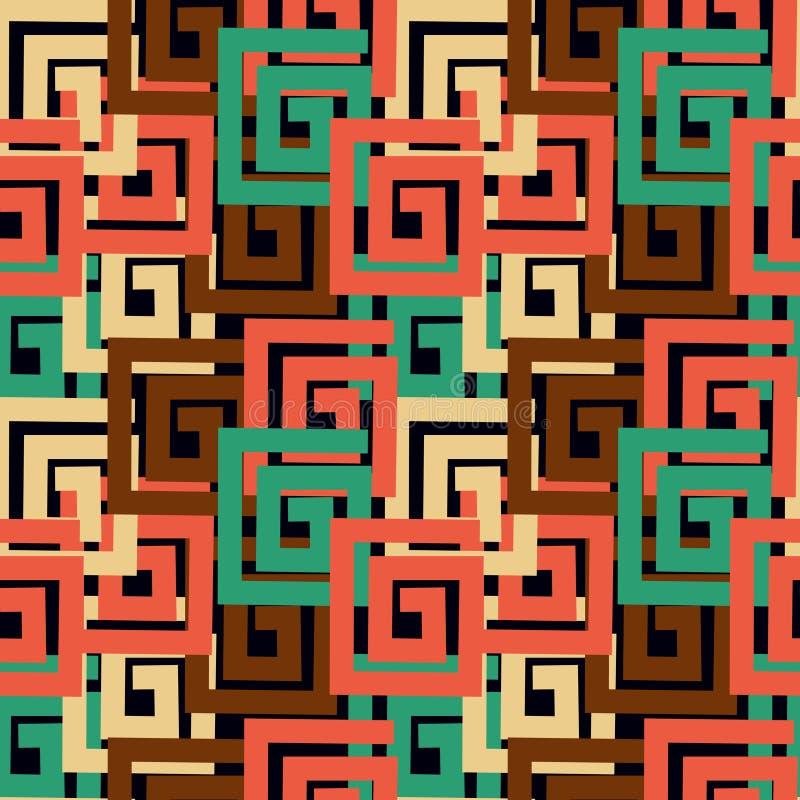Abstrac-Vektor-Hintergrund mit rechteckigen Formen stock abbildung