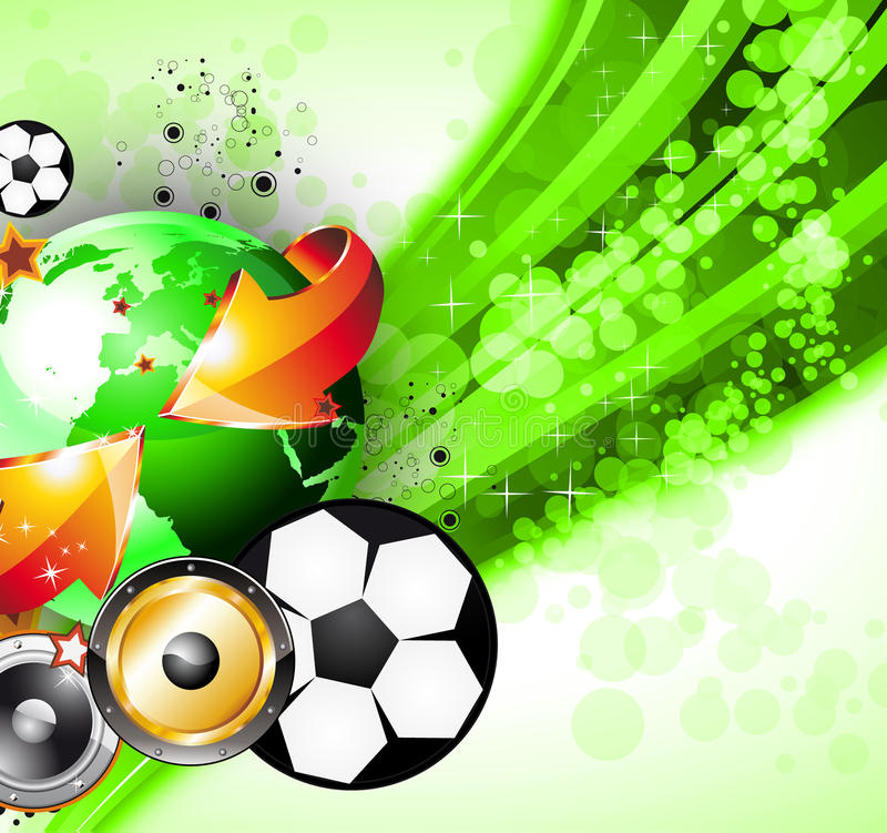 Download Abstrac World Football ChampionShip Party Flyer Royalty Free Stock Images - Image: 15840909