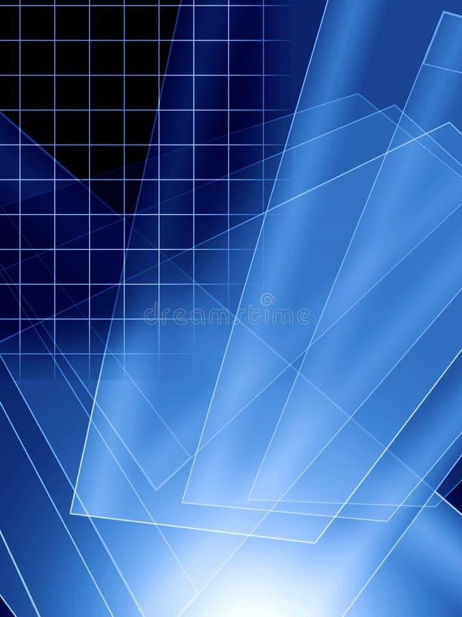 Abstracción azul ilustración del vector
