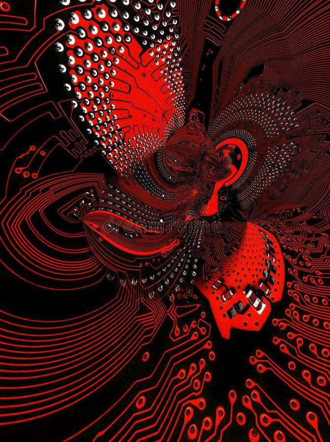 Abstracción basada en la imagen de la placa madre de un de computadora personal libre illustration