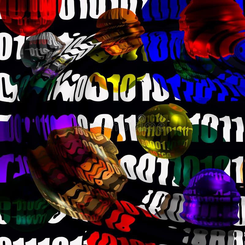 Download Abstracción binaria stock de ilustración. Ilustración de espionaje - 1278304