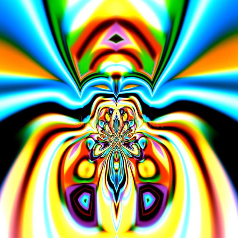 Abstracción colorida de la araña Ejemplo creativo del diseño Composición del arte moderno Estilo surrealista de la imagen Decorac stock de ilustración