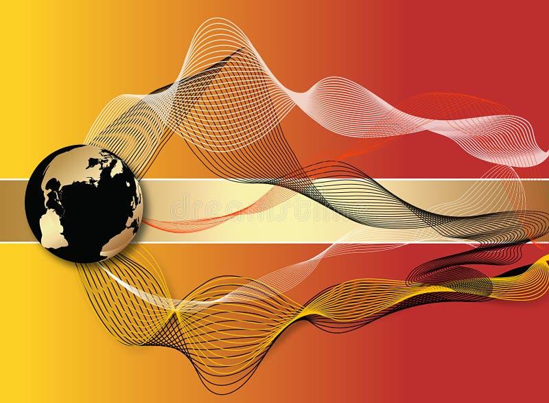 Abstracción con el globo ilustración del vector