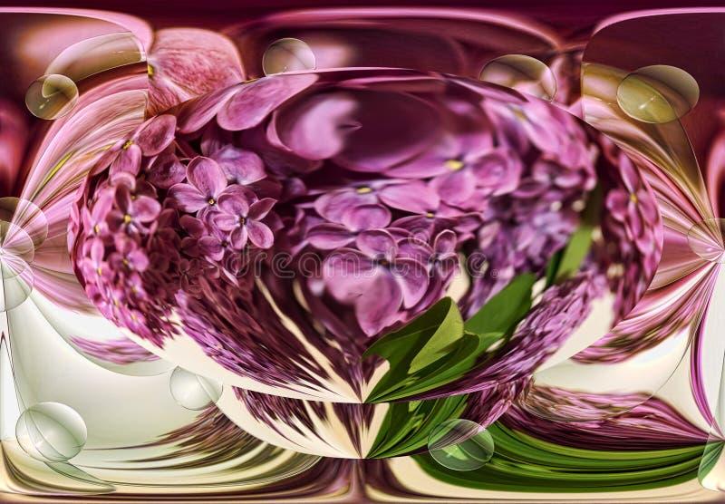 Abstracción de la lila y de esferas transparentes imagen de archivo libre de regalías