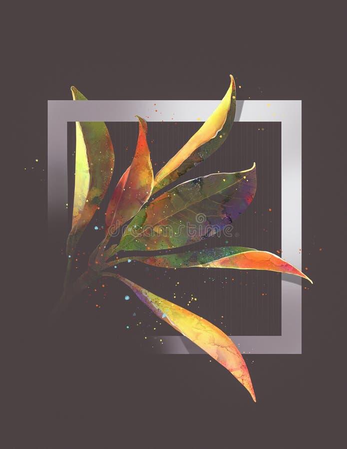 Abstracción de la magnolia stock de ilustración
