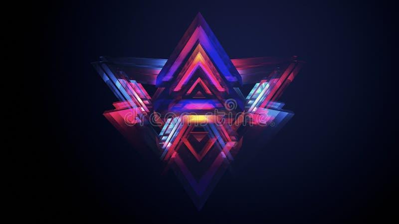 abstracción de la prisma 3d imagen de archivo libre de regalías