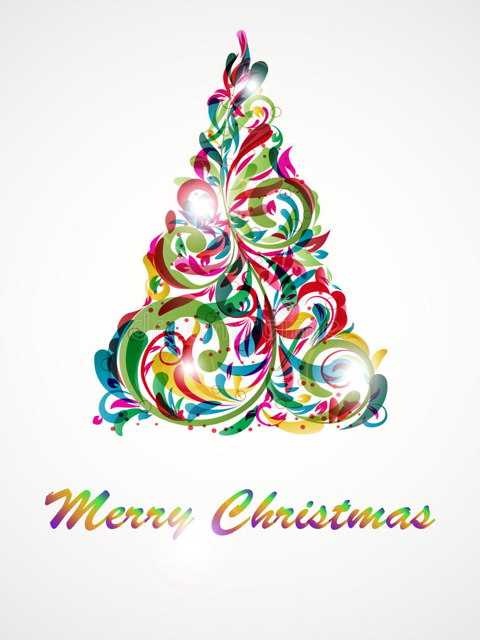 Abstracción decorativa del árbol de navidad libre illustration