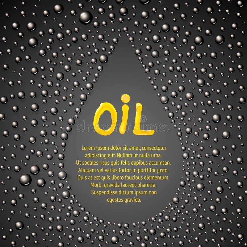 Abstracción del descenso del aceite. stock de ilustración