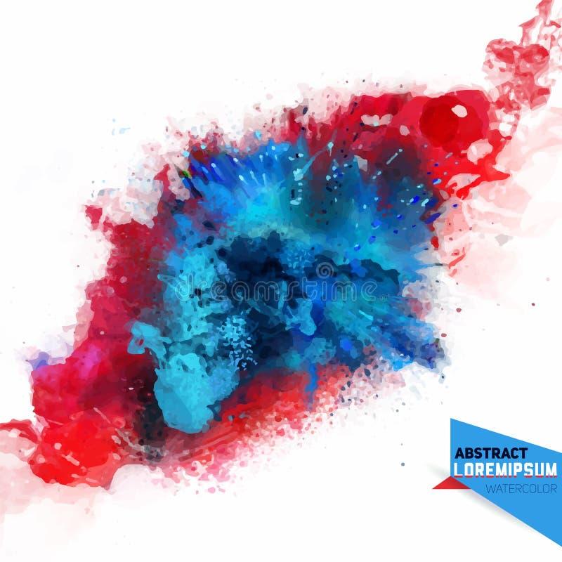 Abstracción del vector de una mezcla de colores ilustración del vector