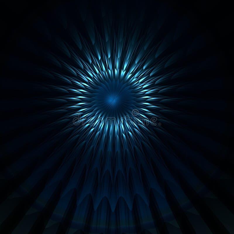 Abstracción Flor en un fondo oscuro ilustración del vector