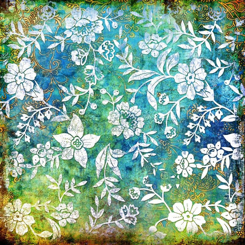 Abstracción floral stock de ilustración