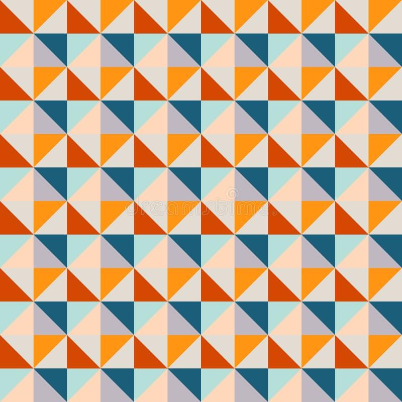Abstracción integrada por diversos triángulos Textura abstracta sealmless moderna, modelo ilustración del vector