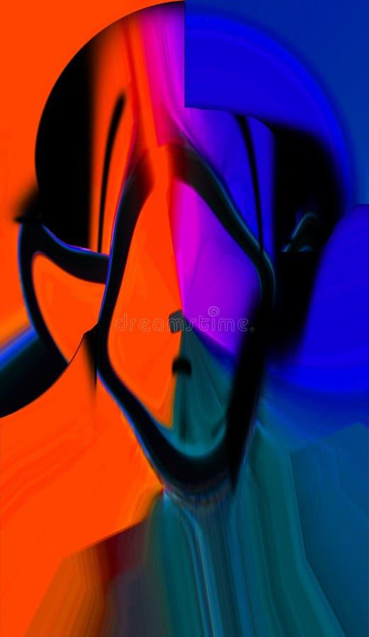 Abstracción Interior gráfico Pintura Extracto Arte cuadro Diseño stock de ilustración