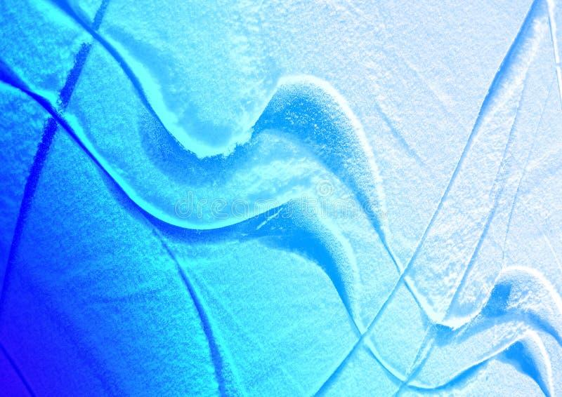 Abstracción - líneas en el hielo imagenes de archivo